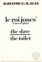 Playbill for The Slave and The Toilet, by LeRoi Jones