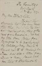 Letter from Janet Jack to Robert and Maggie Jack, February 4, 1891