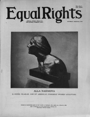 Equal Rights, Vol. 01, no. 07, March  31, 1923
