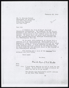 Copy of Letter from Ruth Benedict to E. Adamson Hoebel, February 10, 1943