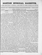Boston Musical Gazette, Vol. 1, no. 6, July 11, 1838