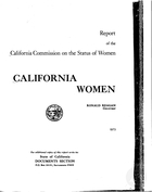 California Women: Report, 1973