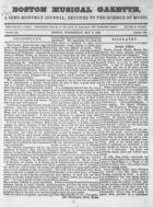 Boston Musical Gazette, Vol. 1, no. 1, May 2, 1838