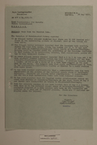 Memo from Dr. Riedl re: News from the Russian Zone, May 30, 1951