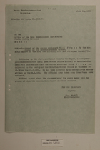 Memo from Dr. Reidl to the Office of the Land Commissioner for Bavaria Public Safety Division re: Arrest of Custon Assistant, June 18, 1951