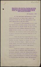 Copy of Memo on Economic, Political and Social Conditions in West Indies and British Guiana, by Int'l African Service Bureau, League of Coloured Peoples, and Negro Welfare Association, September 9, 1938