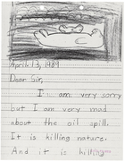 Letter from Kelli Middlestead from the Franklin School, Burlingame, California to Walter Stieglitz the Regional Director of the Alaska Region of the U.S. Fish and Wildlife Service