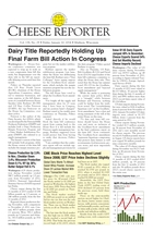 Cheese Reporter, Vol. 138, No. 29, Friday, January 10, 2014