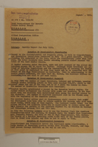 Memo from Dr. Riedl re: Monthly Report for July 1950