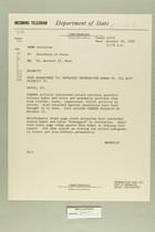 Telegram from Eric Wendelin in Jerusalem to Secretary of State, October 19, 1960