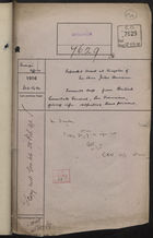 Correspondence Cover Sheet re: Reported Arrest at Kingston of Jules Hermann, February 16, 1916