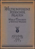 Weltkonferenz jüdischer Frauen: World Congress of Jewish Women, Hamburg, 3-6 juni 1929