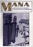 MANA: A South Pacific Journal of Language and Literature Vol. 10, No. 2