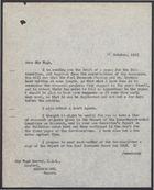 Letter from P. J. Harrop to Sir Hugh Beaver, October 25, 1957