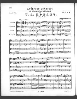 Zwölftes Quartett