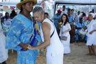 Candomble Devotees Celebrating Iemanja Festival in Rio Vermelho: Entranced Woman (photo)