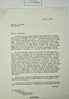 Correspondence between William Belton, Francis White, State Dept., and Ambassador Tello re: Chamizal Border Dispute, April 9, 1954