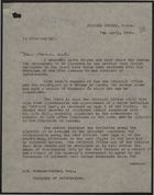 Letter from F. E. Evans to Oliver H. Bonham-Carter re: Sir George Gater's Comments on Propaganda Plan, April 7, 1943