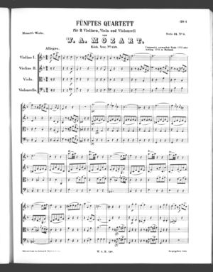 Fünftes Quartett