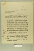 Letter from Henry Jervey to the Honorable C. B. Hudspeth, Aug. 14, 1919