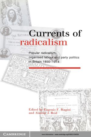 Currents of Radicalism: Popular Radicalism, Organised Labour and Party Politics in Britain, 1850–1914