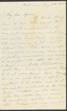 Letter from Jane Cannan to Agnes Cannan, from Melbourne, 9 May 1855 (nla.obj-536512683)