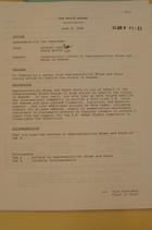 Memo Recommending President Clinton Sign Letters to Congress Regarding Rwanda