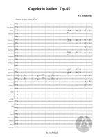 Capriccio Italian, arranged for Symphonic Band, Op. 45, A Major