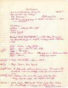 Handwritten Notes re: