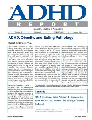 ADHD Report, Volume 22, Number 05, August 2014