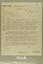 Telegram from John Sabini in Jerusalem to Secretary of State, September 17, 1956