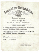 Broadway Bound Dressing: Honorable Discharge Letter