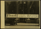 Photograph of 'Food will win the war' banner, Central Trust Co., Chicago, IL, 1918