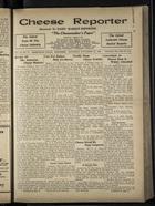 Cheese Reporter, Vol. 55, no. 11, Saturday, November 22, 1930