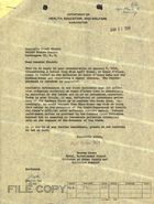 Letter from Murray Stein to Frank Church re: Pollution Situation Occurring on Lake Coeur d'Alene, January 21, 1964