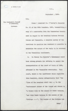 Draft Letter to His Majesty's Chargé d'Affaires in Caracas, September 1932