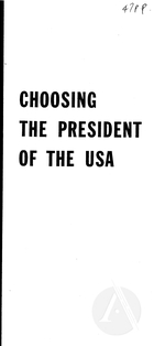 Choosing the President of the USA