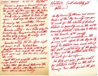 Handwritten Minutes from SPREE Board Meeting, October 25, 1971