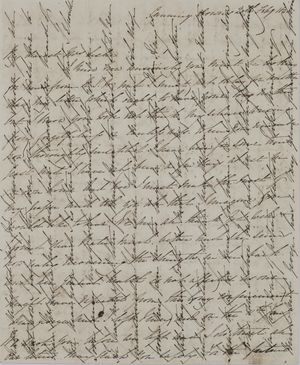 Letter from Emmeline MacArthur Leslie to Jane Davidson Leslie, February 20, 1848