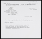 Letter from Secretary, IAI, to Members of the Special Committee assisting the Acting Co-Directors in finding a new Administrative Director, 1 Nov. 1973