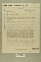 Telegram from William E. Cole, Jr. in Jerusalem to Secretary of State, March 12, 1956
