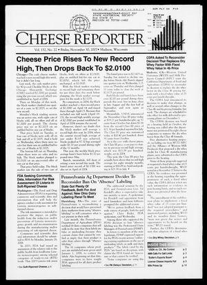 Cheese Reporter, Vol. 132, No. 22, Friday, November 30, 2007