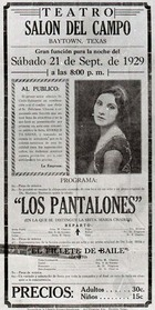 Flyer for a Play at Del Campo Hall.