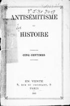 Antisémitisme et Histoire