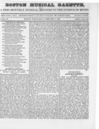 Boston Musical Gazette, Vol. 1, no. 2, February 6, 1839