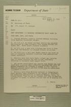 Telegram from Edward B. Lawson in Tel Aviv to Secretary of State, Aug. 27, 1955