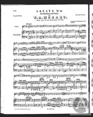 Sonate No. 28 für Pianoforte und Violine