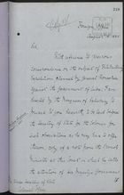 Letter from Marquis of Salisbury to Under Secretary Wyndham-Quin re: General Bonachea and Alleged Headquarters in Jamaica, August 18, 1885