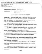 AIDS Walk Chicago Names New Director, March 27, 1995