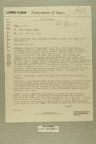 Telegram from Edward B. Lawson in Tel Aviv to Secretary of State, April 9, 1956